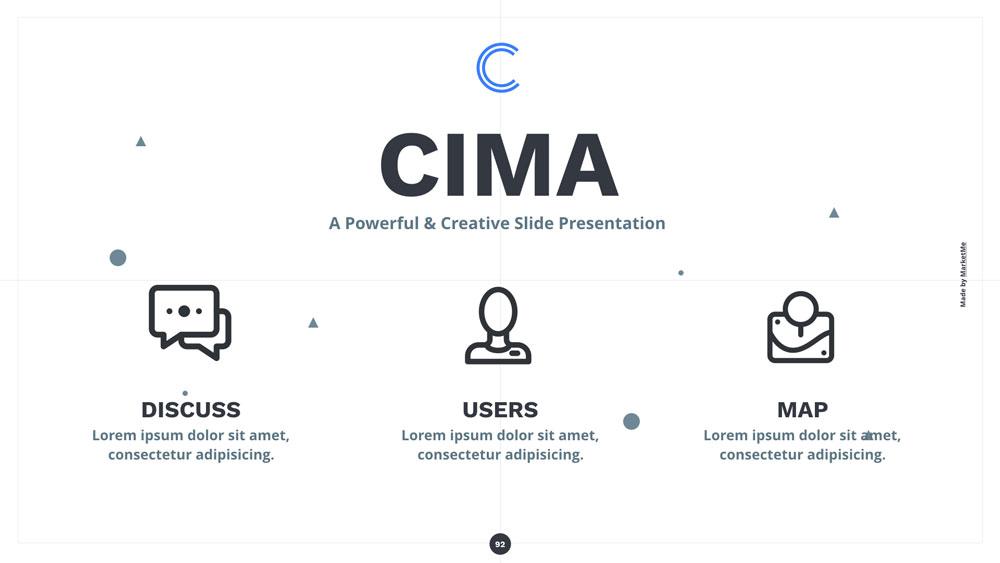 Cima presentation keynote powerpoint googslide