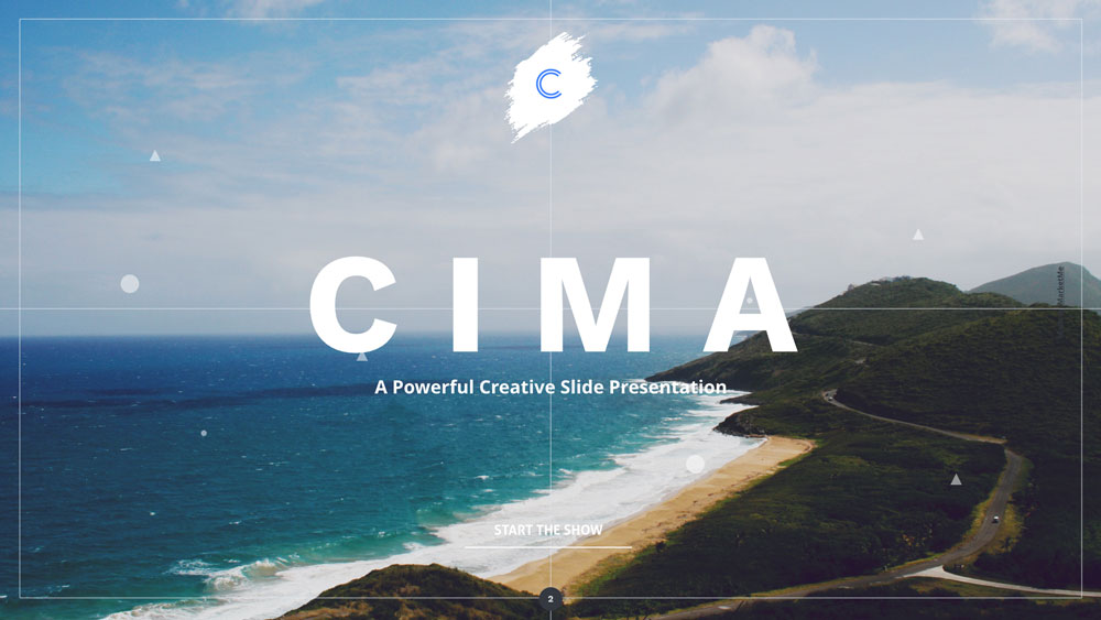 Cima screen presentation slider 2