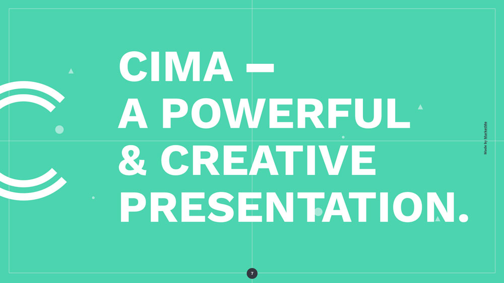 Cima screen presentation slider 5