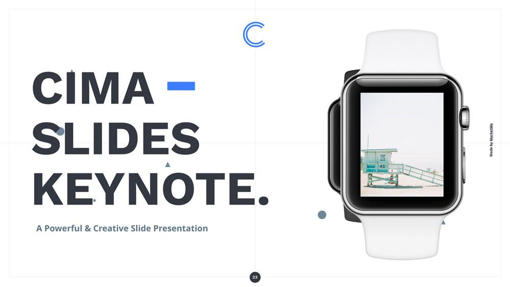 Cima screen presentation slider 9